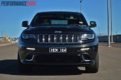 2014 Jeep Grand Cherokee SRT grille and headlights