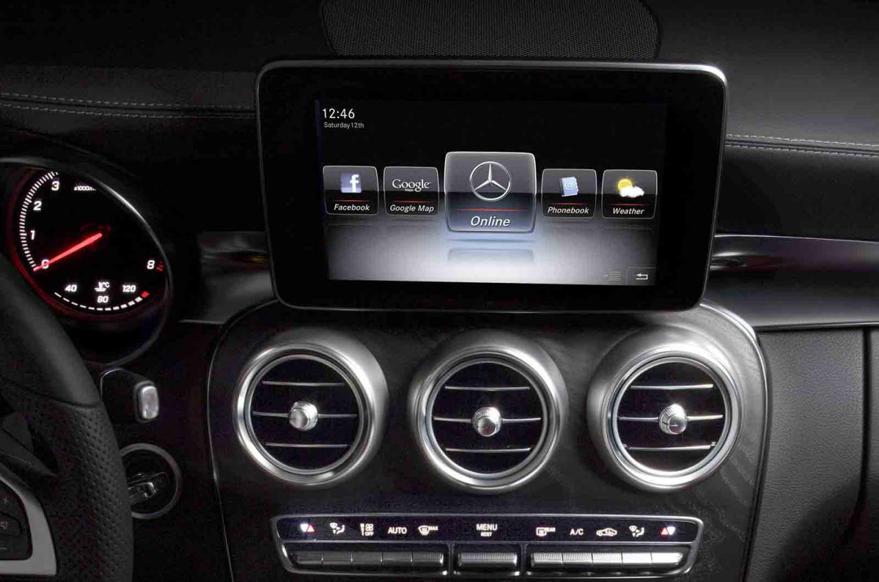 2014 mercedes benz c class interior officially unveiled performancedrive - 2014 mercedes c class interior ...