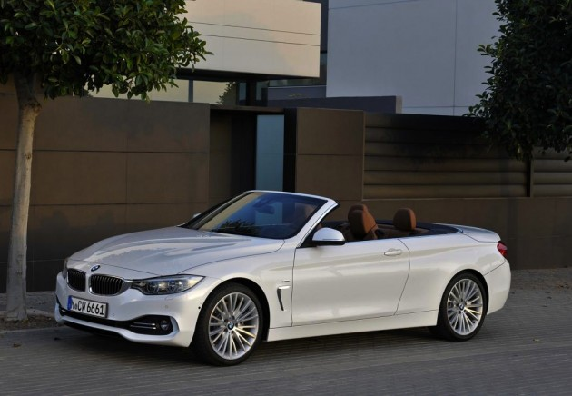 BMW 4 Series Convertible roof down