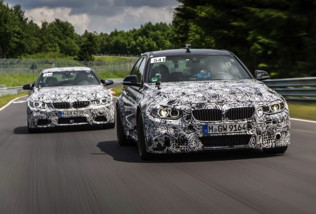BMW M4 and M3 prototypes