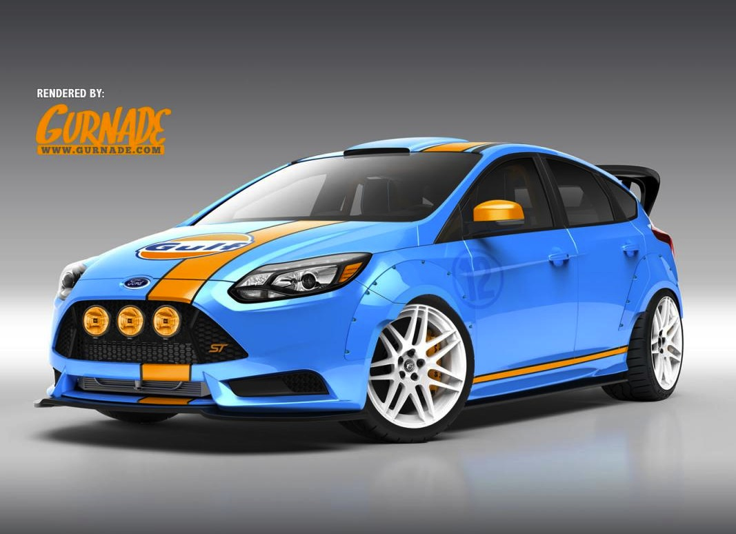custom ford focus st show cars headed for sema. Black Bedroom Furniture Sets. Home Design Ideas
