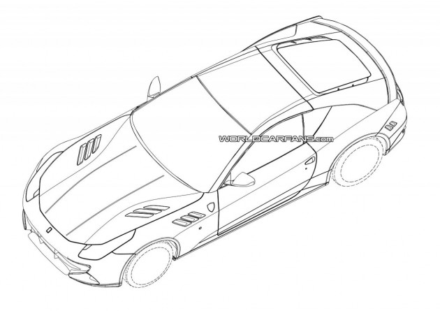 Hardcore Ferrari FF two-seater patent images