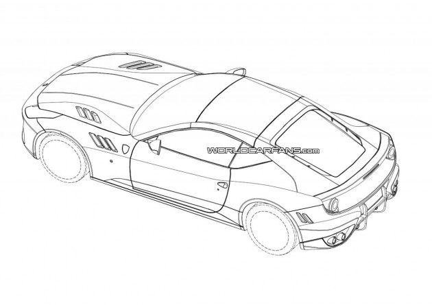 Hardcore Ferrari FF two-seater patent images-rear