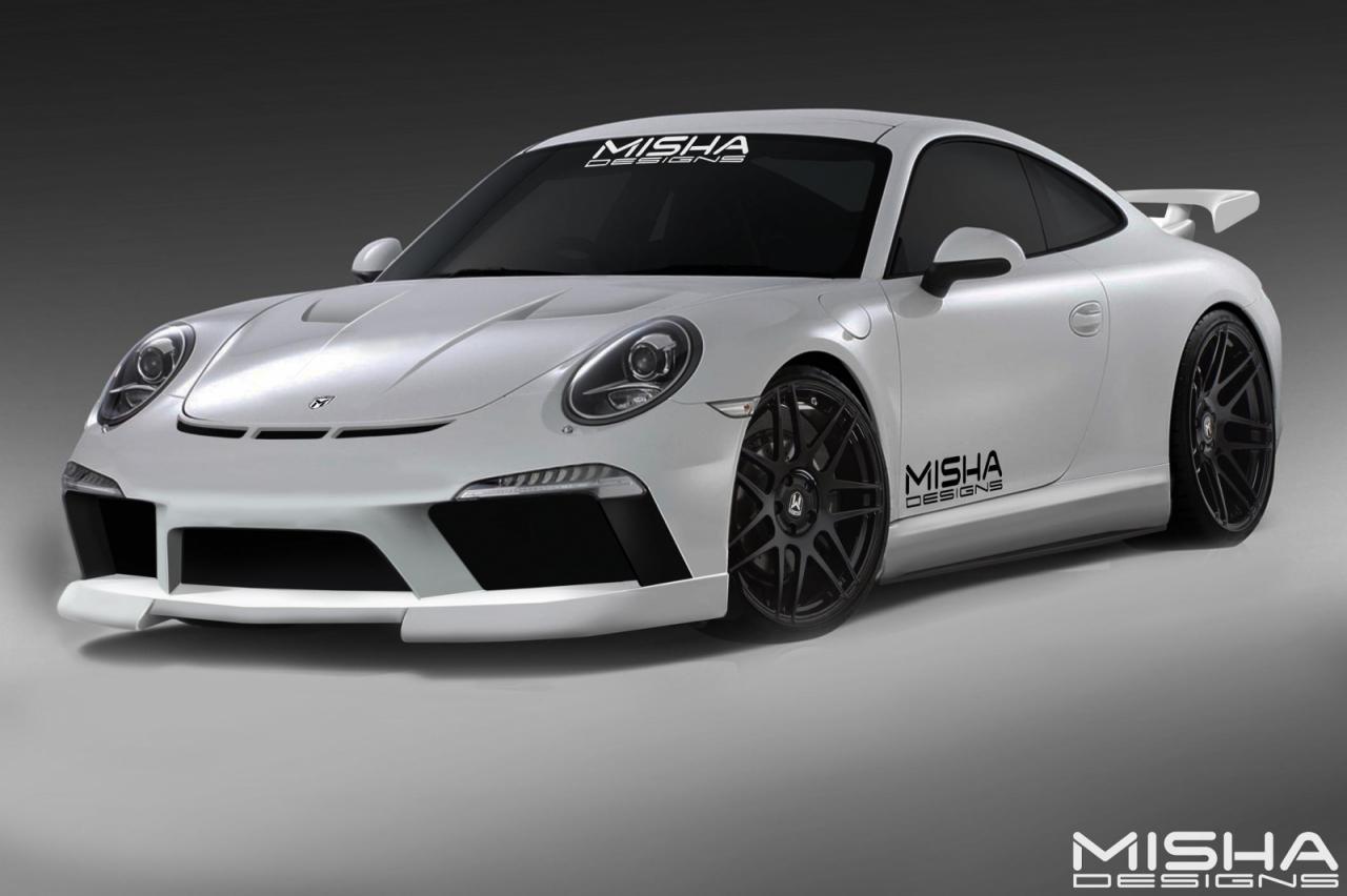 misha designs porsche 911 styling kit to debut at sema performancedrive. Black Bedroom Furniture Sets. Home Design Ideas