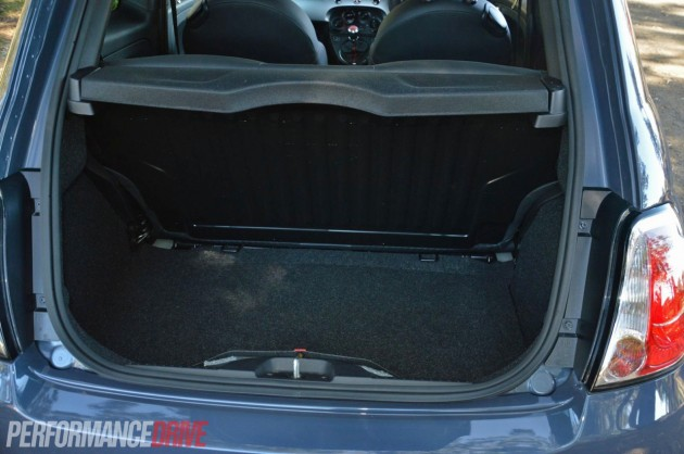 2013 Fiat 500 Sport boot space
