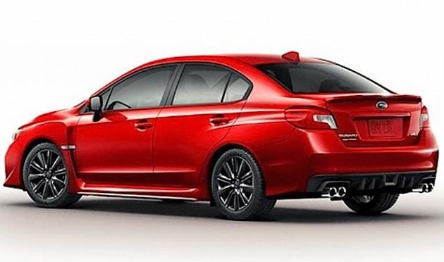 2014-2015 Subaru WRX-rear