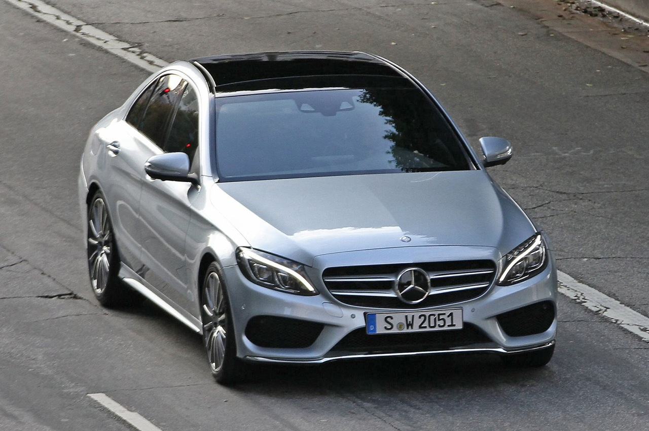 new 2014 2015 mercedes benz c class spotted performancedrive. Black Bedroom Furniture Sets. Home Design Ideas
