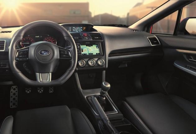 2015 Subaru WRX interior