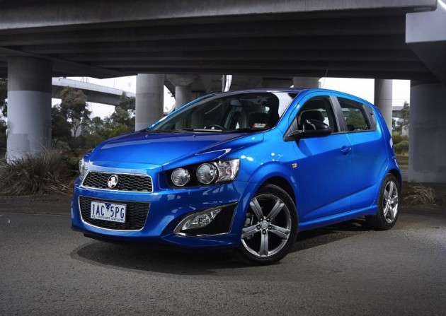 Holden Barina RS-blue
