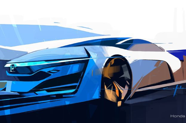 Honda FCEV Concept sketch