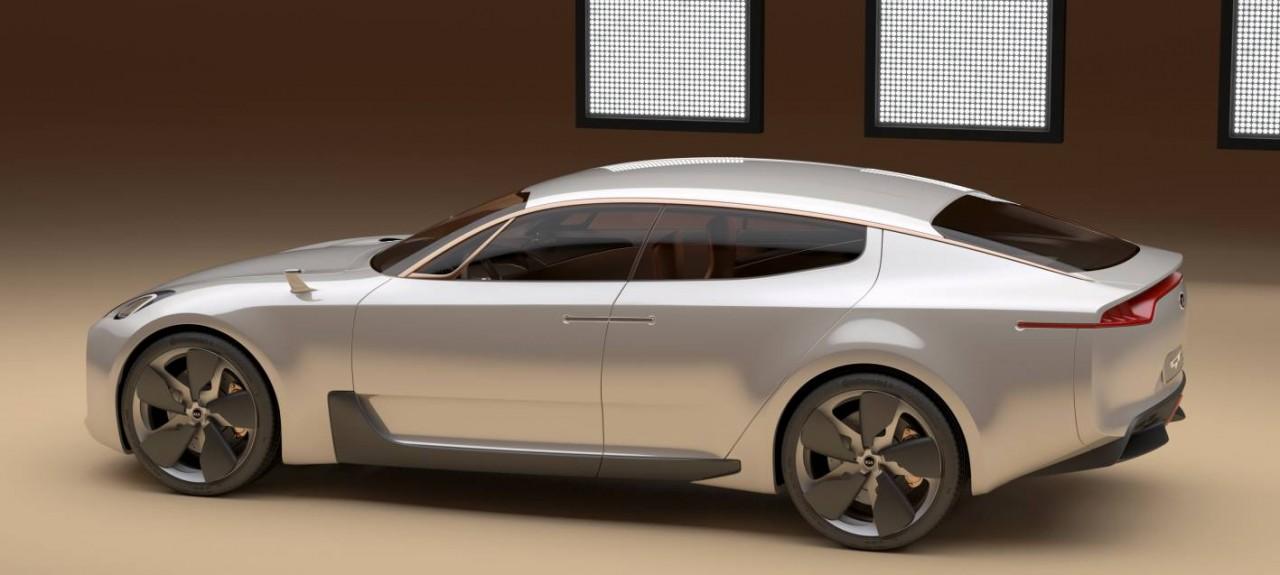 kia gt high performance sedan arriving by 2017 report performancedrive. Black Bedroom Furniture Sets. Home Design Ideas