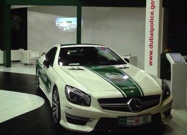 Mercedes-Benz SL 63 AMG police car-Dubai