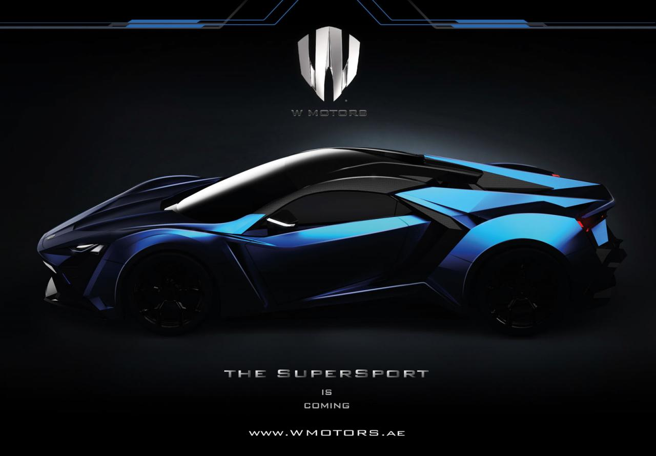 W Motors Supersport Hypercar To Offer Over 746kw 1000hp