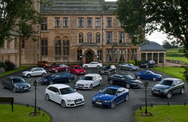 2013 Audi product range