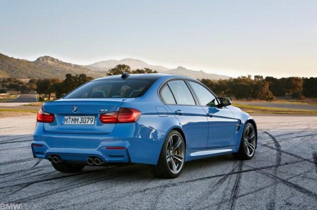 2014 BMW M3-rear
