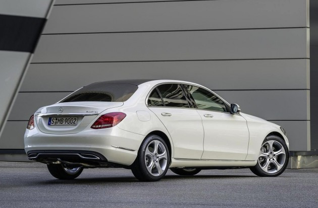 2014 Mercedes-Benz C-Class white rear