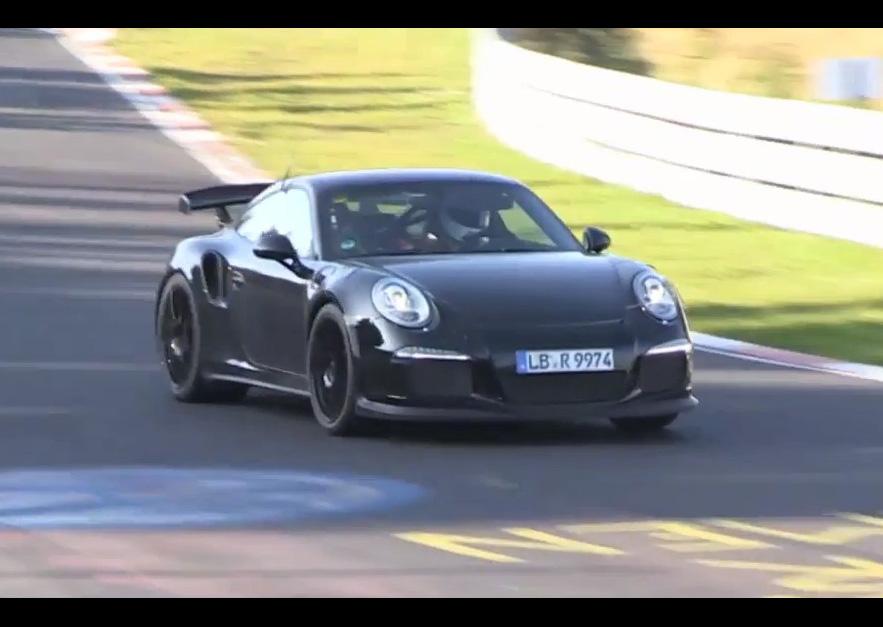 video 2014 porsche 911 gt2 spied on the nurburgring performancedrive. Black Bedroom Furniture Sets. Home Design Ideas