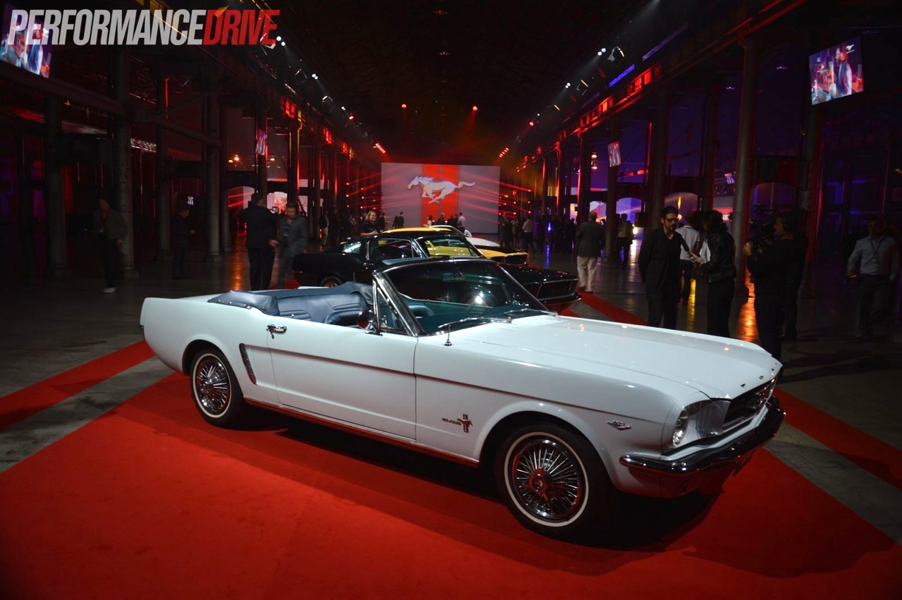 2015 ford mustang unveiling in sydney white 64 convertible - 2015 Ford Mustang White Convertible