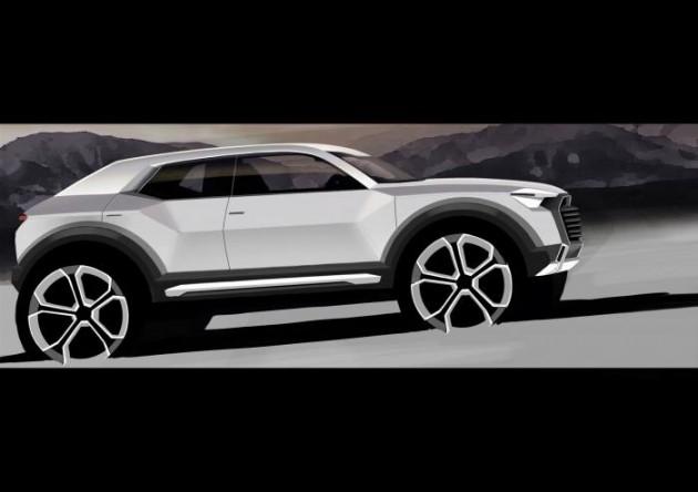 Audi Q1 design sketch
