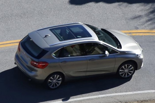BMW 2 Series Active Tourer spied-rear