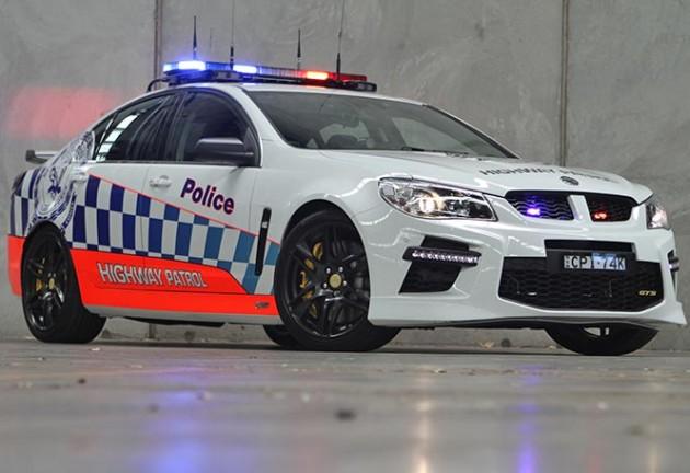HSV Gen-F GTS police car