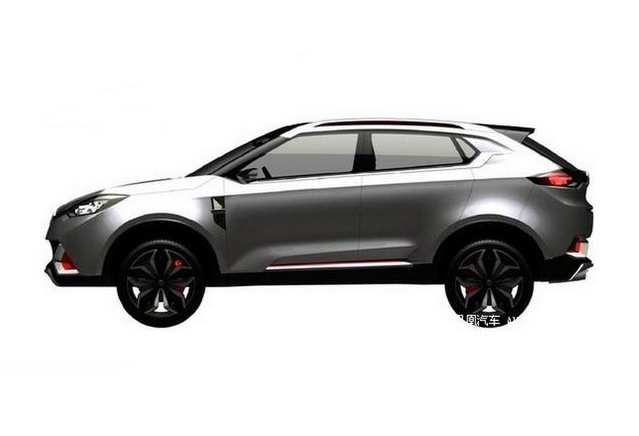 Mg Suv Sketch Side