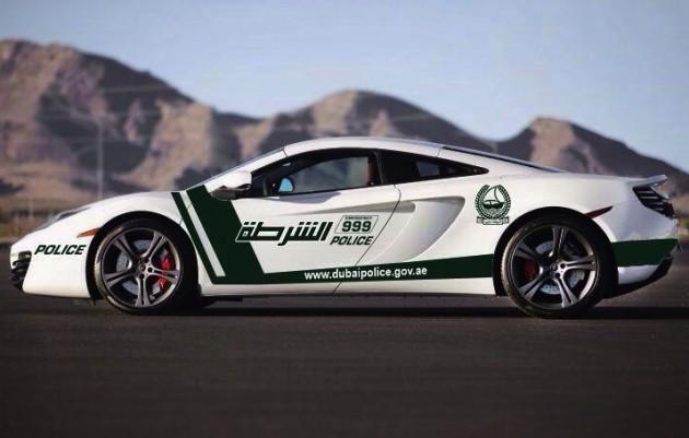 McLaren 12C police Dubai