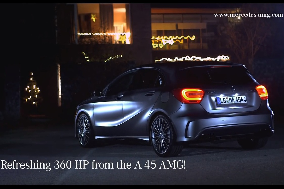 Mercedes benz amg sends out cheesy 39 holiday card 2013 for Mercedes benz card
