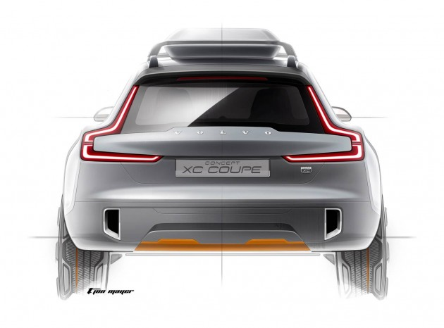Volvo Concept XC Coupe preview-rear