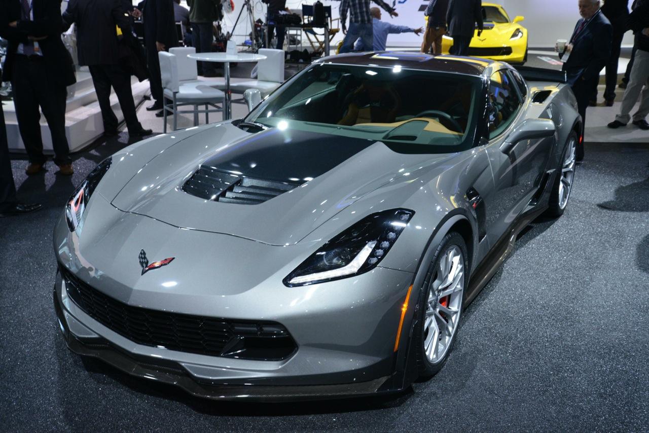 2014 detroit show chevrolet corvette z06 grey front. Cars Review. Best American Auto & Cars Review