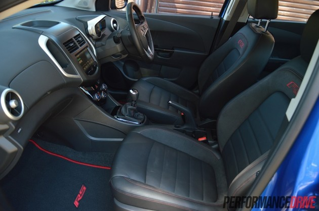 2014 Holden Barina RS front seats