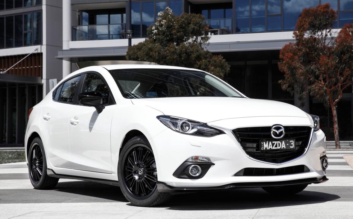 2014 Mazda3 sedan-white2014 Mazda 3 White