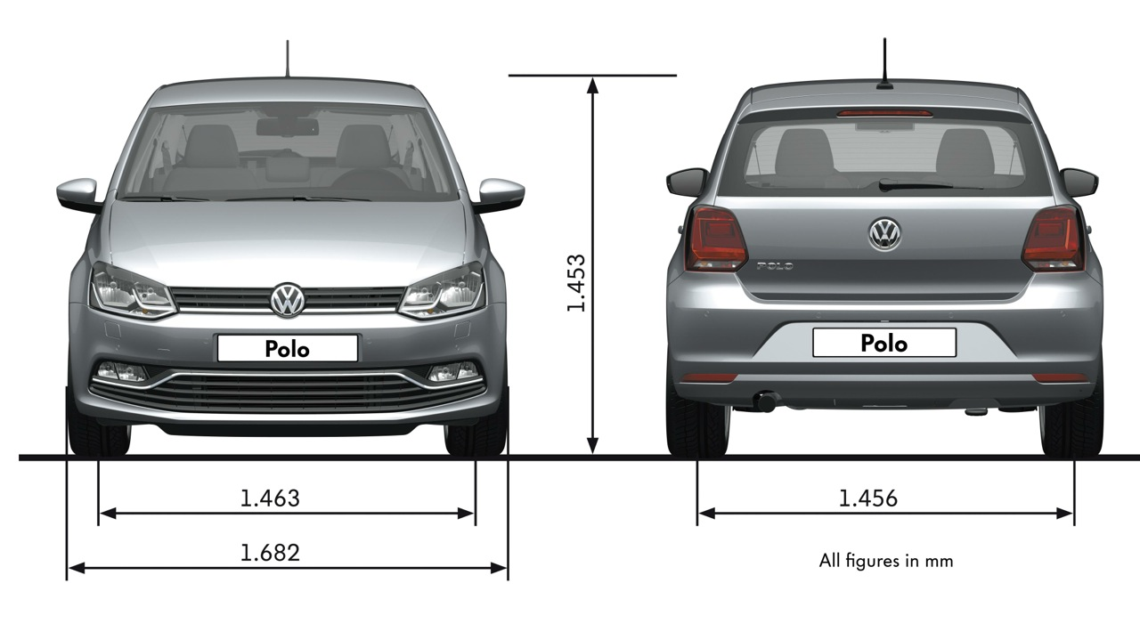 2014 volkswagen polo size. Black Bedroom Furniture Sets. Home Design Ideas