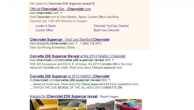 2015 Chevrolet Corvette Z06 specs Google search