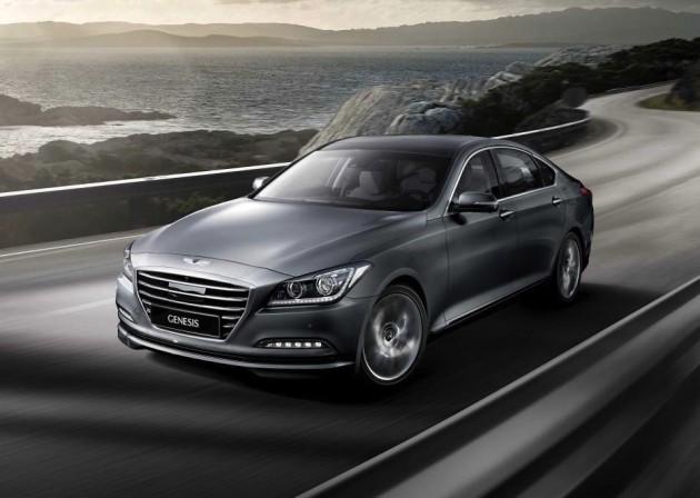 2015 Hyundai Genesis sedan-silver