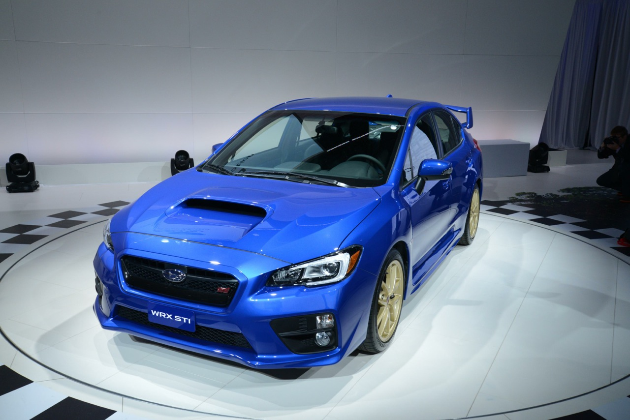 2015 subaru wrx sti detroit front. Black Bedroom Furniture Sets. Home Design Ideas