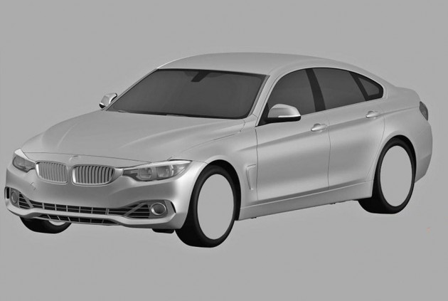 BMW 4 Series Gran Coupe patent image