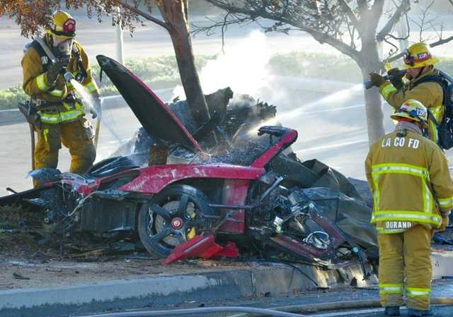 Paul Walker's car crash occurred at over 160km/h