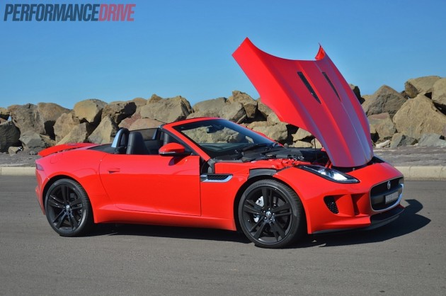 2014 Jaguar F-Type V6 bonnet up