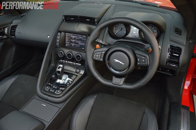 2014 Jaguar F-Type V6 interior