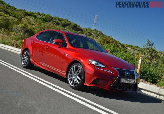 2014 lexus is 350 f sport review video performancedrive. Black Bedroom Furniture Sets. Home Design Ideas
