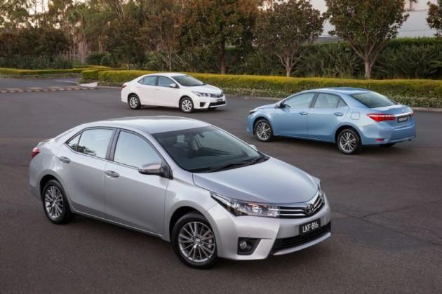 2014 Toyota Corolla sedan range