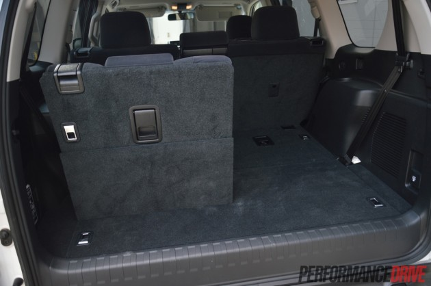 2014 Toyota Prado GXL minimum cargo space