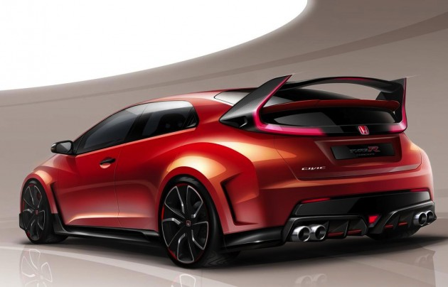 2015 Honda Civic Type R concept sketch