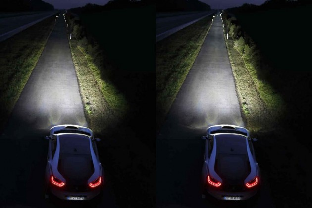 BMW i8 LED vs laser headlight