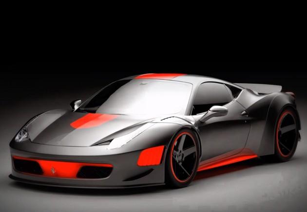 Ferrari 458 Curseive Gray Design
