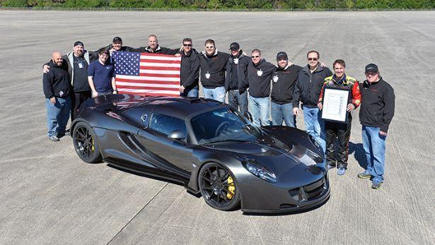 Hennessey Venom GT-record