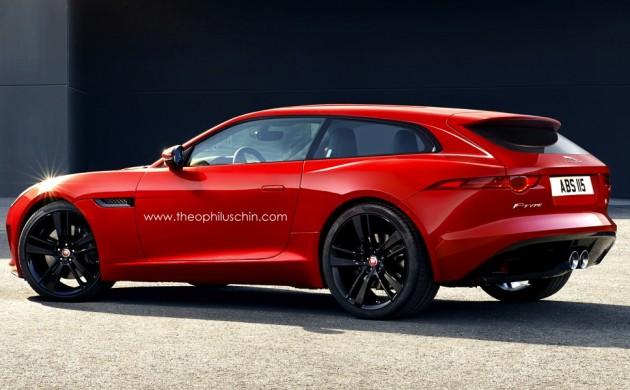 Jaguar F-Type shooting brake rendering-back
