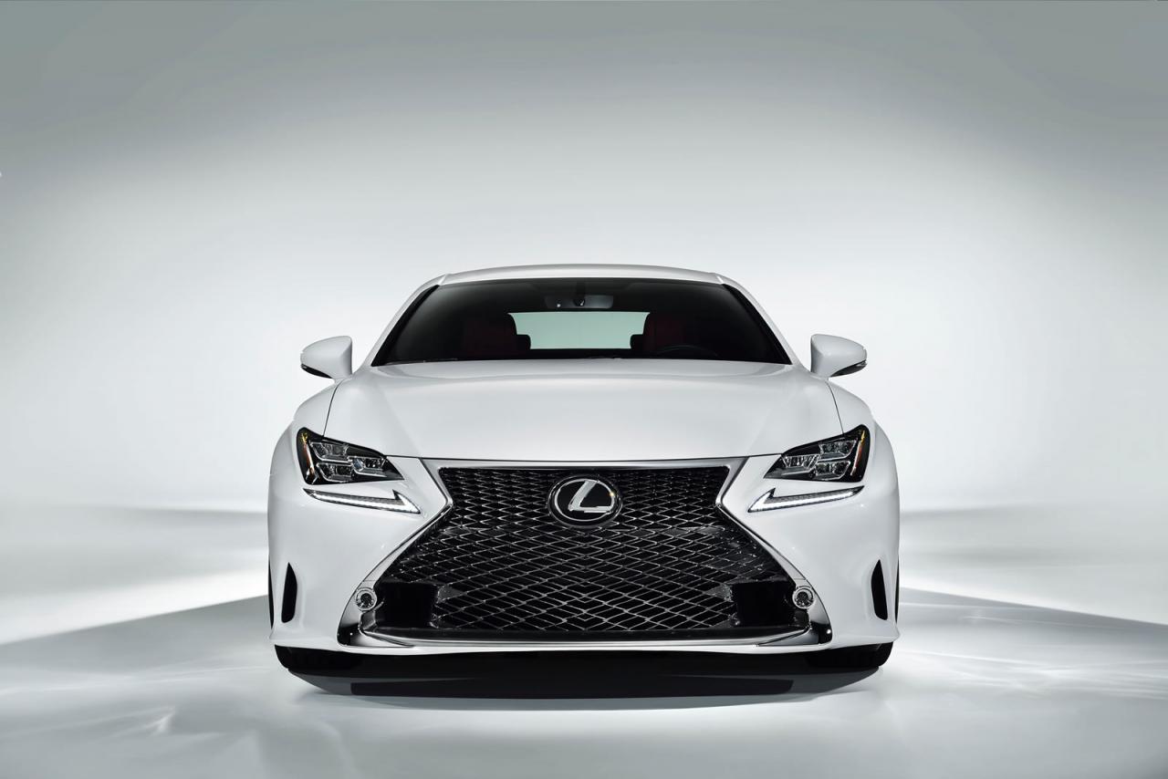 lexus rc 350 f sport revealed  gets rear