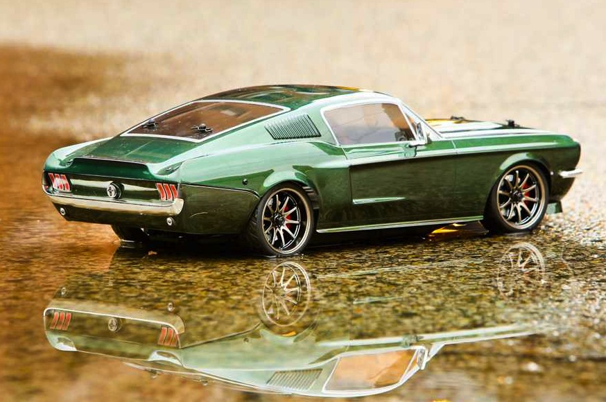 Vaterra Ford Mustang RC car-rear & Awesomely detailed 1967 Ford Mustang R/C car | PerformanceDrive markmcfarlin.com